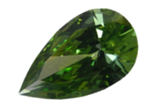 Fancy Color Treated Green Pear Shaped Diamond, VS1 Clarity, 1.55ct