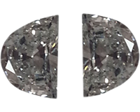 Loose 0.46 Carat Half Moon Diamonds, G Color, VS1 Clarity