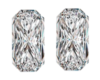 Sparkly Pair of 0.95ct Loose Pair of Diamonds, VVs1 Clarity, E Color