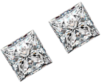 Sparkly Pair of 1.10 Carat Loose Princess Side Stones, VS1 Clarity, F Color