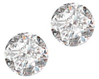 Round VS1 Clarity, H Color 1.34 Carat Loose Diamond Pair