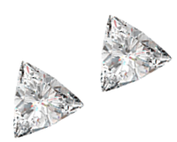 Sparkly Pair of 0.55ct Loose Diamonds, SI2 Clarity, I Color