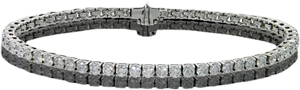 Elegant 14k White Gold Bracelet With 0.8Ct Diamonds, VS1 Clarity