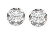 Pair of Loose Round Cut Diamonds