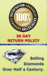 We have been selling diamonds for over half a century. All our Diamonds come with a 30 day return policy