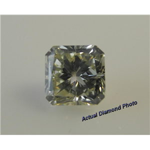 Radiant Cut Loose Diamond (1 Ct, Natural Fancy Light Brown Greenish Yellow ,SI1) GIA Certified