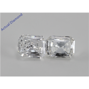 A Pair of Radiant Cut Loose Diamonds (0.99 Ct, G-H ,SI)