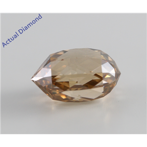 Briolette Cut Loose Diamond (4.24 Ct, Natural Fancy Brown Orange, SI1) GIA Certified