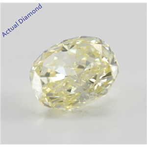 Cushion Cut Loose Diamond (0.48 Ct, Natural Fancy Yellow, VS1) GIA Certified