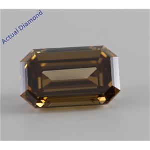 Emerald Cut Loose Diamond (2.24 Ct, Natural Fancy Dark Yellowish Brown, VS2) GIA Certified