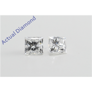 A Pair of Princess Cut Loose Diamonds (0.94 ct Ct, F Color, SI1 Clarity)