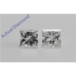 A Pair of Princess Cut Loose Diamonds (0.91 ct Ct, F Color, VS1 Clarity)