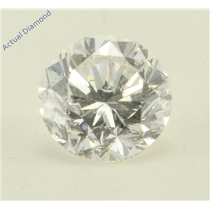 Round Cut Loose Diamond (1.07 Ct, F Color, I1 Clarity) GIA Certified