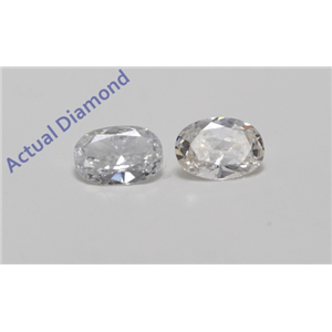 A Pair of Oval Cut Loose Diamonds (0.78 ct Ct, H Color, SI1 Clarity)