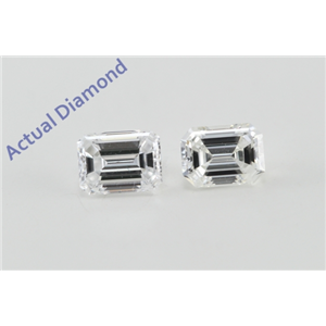 A Pair of Emerald Cut Loose Diamonds (0.51 ct Ct, D Color, VS1 Clarity)