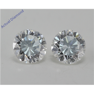 A Pair of Round Cut Loose Diamonds (1.06 Ct, G Color, SI1 Clarity) GIA Certified