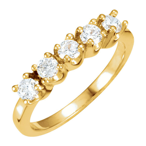 Round Diamond Solitaire Engagement Ring 14k Yellow Gold 1.23 Ct, (F Color, VS Clarity)