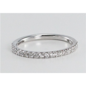 18k White Gold Round Cut Multi-stone Diamond Eternity Band (0.32 Ct, G Color, SI2 Clarity)