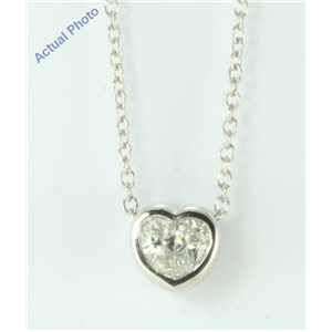 18k White Gold Pear Cut Invisible setting Diamond Heart Pendant (0.4 Ct, G Color, si Clarity)