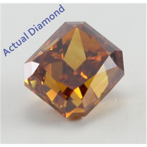 Radiant Cut Loose Diamond (0.39 Ct, Natural Fancy Deep Brown Orange Color, SI1 Clarity) GIA Certified