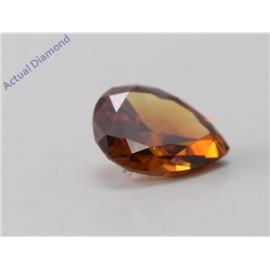 Pear Cut Loose Diamond (0.44 Ct, natural fancy deep brownish orange Color, si Clarity) IGL Certified
