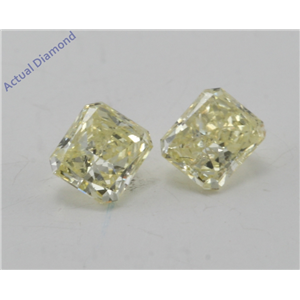 A Pair of Radiant Loose Diamonds (0.46 Ct, Natural fancy intense yellow Color, si1,si1 Clarity) IGL Certified