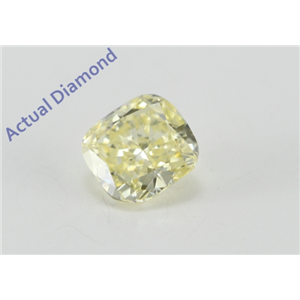 Cushion Cut Loose Diamond (0.33 Ct, Natural Fancy Yellow Color, VS2 Clarity) GIA Certified