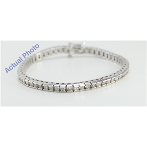 14k White Gold Round Cut Diamond Tennis Bracelet (5 Ct, H-I Color, I1 Clarity)