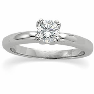 Round Diamond Solitaire Engagement Ring 14k White Gold (0.7 Ct, e Color, VS1 Clarity) WGI Certified