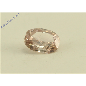 Cushion Cut Loose Diamond (0.19 Ct, Natural Fancy Brown Pink Color, SI3 Clarity) GIA Certified