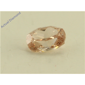 Oval Cut Loose Diamond (0.27 Ct, Natural Fancy Brownish Orangy Pink Color, I1 Clarity) GIA Certified
