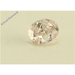 Oval Cut Loose Diamond (0.26 Ct, Natural Fancy Light Pink Color, SI2 Clarity) GIA Certified