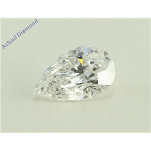 Pear Cut Loose Diamond (1.07 Ct, F Color, SI2 Clarity) GIA Certified
