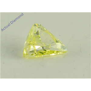 Triangle Cut Loose Diamond (0.2 Ct, Natural Fancy Green Yellow Color, SI1 Clarity) GIA Certified