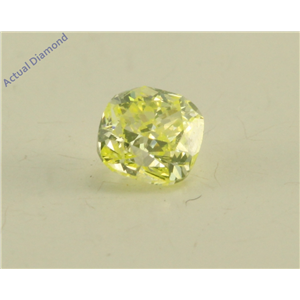 Cushion Cut Loose Diamond (0.26 Ct, Natural Fancy Green Yellow Color, SI1 Clarity) GIA Certified