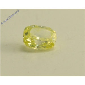 Cushion Cut Loose Diamond (0.26 Ct, Natural Fancy Green Yellow Color, SI2 Clarity) GIA Certified