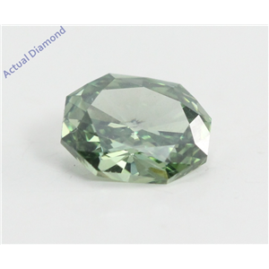 Radiant Cut Loose Diamond (0.72 Ct, Fancy Green(Irradiated) Color, VVS2 Clarity) IGL Certified