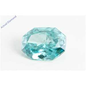 Radiant Cut Loose Diamond (0.51 Ct, Light Blue(Irradiated) Color, si3 Clarity)