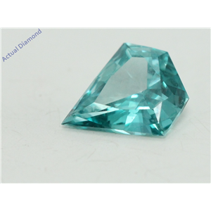 Shield Cut Loose Diamond (0.44 Ct, Light Blue(Irradiated) Color, VS1 Clarity)