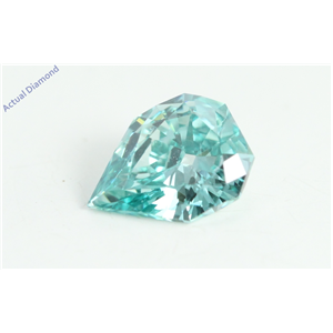 Pear Empress Cut Loose Diamond (0.46 Ct, Blue(Irradiated) Color, VS2 Clarity)