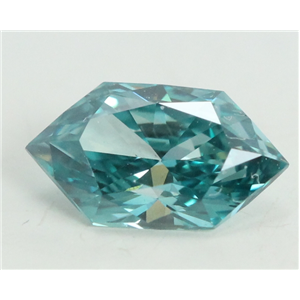 Marquise Duchess Cut Loose Diamond (0.48 Ct, Sky Blue(Irradiated) Color, VS1 Clarity)