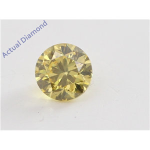 Round Cut Loose Diamond (0.2 Ct, Natural Fancy Vivid Yellow Color, VVS1 Clarity) IGL Certified