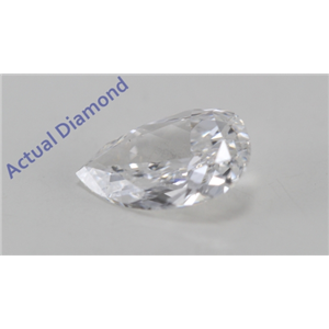 Pear Cut Loose Diamond (0.48 Ct, E Color, SI1(Laser Drilled) Clarity)
