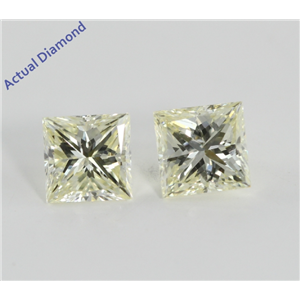 A Pair of Princess Cut Loose Diamonds (1.38 Ct, L Color, SI Clarity)