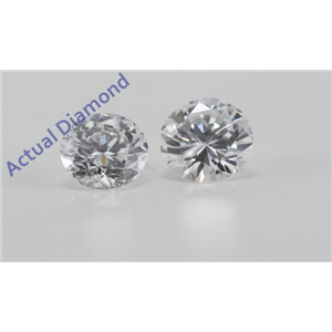 A Pair of Round Cut Loose Diamonds (0.62 Ct, D Color, VVS2 Clarity)