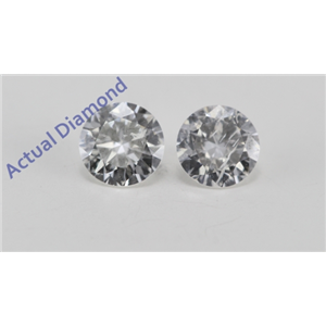 A Pair of Round Cut Loose Diamonds (0.38 Ct, F Color, I1 Clarity)