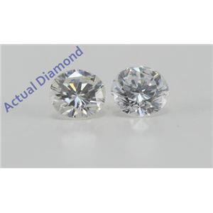 A Pair of Round Cut Loose Diamonds (0.32 Ct, F-G Color, SI2-VS1 Clarity)