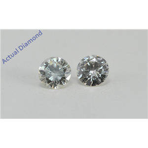 A Pair of Round Cut Loose Diamonds (0.5 Ct, I Color, VS1-VS2 Clarity)