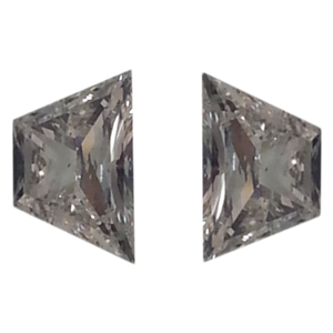 A Pair of Trapezoid Brilliant Cut Cut Loose Diamonds (0.61 Ct, G-H ,VS1-VS2)