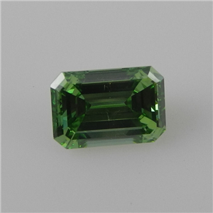 Emerald Cut Loose Diamond (1.4 Ct, Olive Green(Color Irradiated) ,VS2(Clarity Enhanced))
